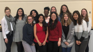 Photo of AMWA students